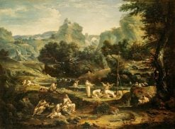 Landscape with Monks | Marco Ricci | Oil Painting