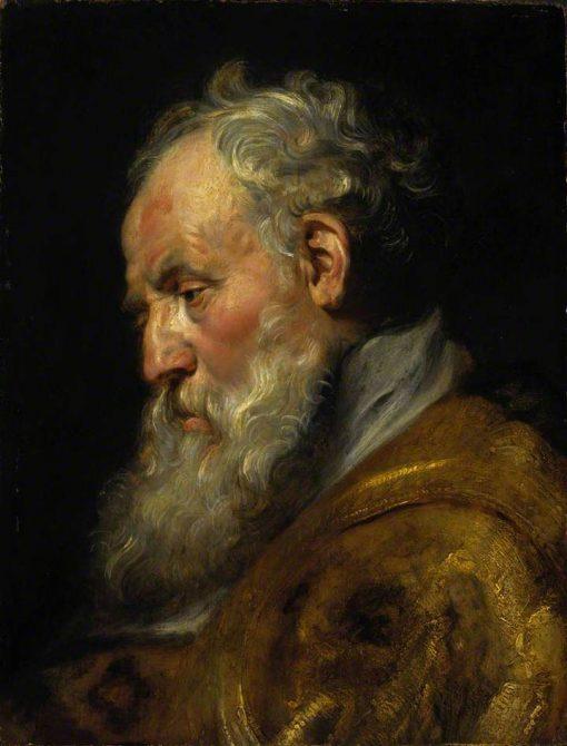 A Study of a Head (Saint Ambrose) | Peter Paul Rubens | Oil Painting