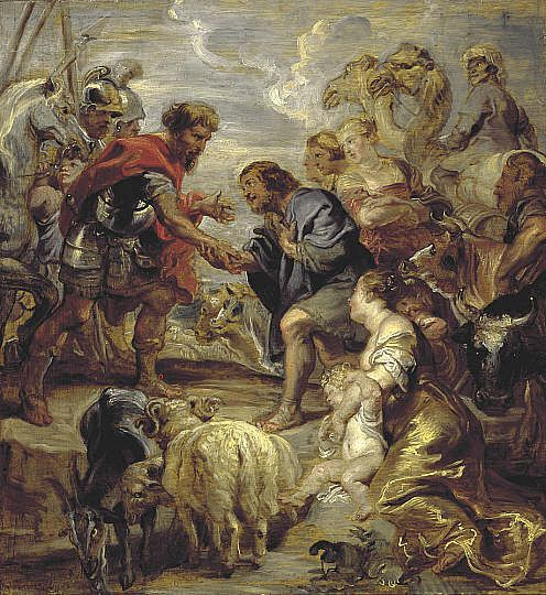 The Reconciliation of Jacob and Esau | Peter Paul Rubens | Oil Painting