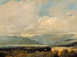 Landscape with Mountains   Richard Parkes Bonington   Oil Painting