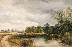 An English Canal Scene | Samuel Bough | Oil Painting