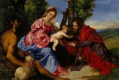 The Virgin and Child with Saint John the Baptist and an Unidentified Saint | Titian | Oil Painting
