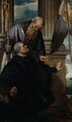 Petrobelli Altarpiece - Saint Anthony Abbot as Patron of a Kneeling Donor | Veronese | Oil Painting