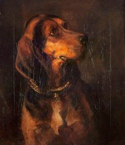 A Dog's Head | William Simson | Oil Painting