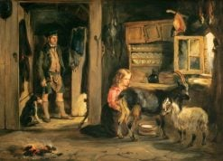 A Goatherd's Cottage | William Simson | Oil Painting