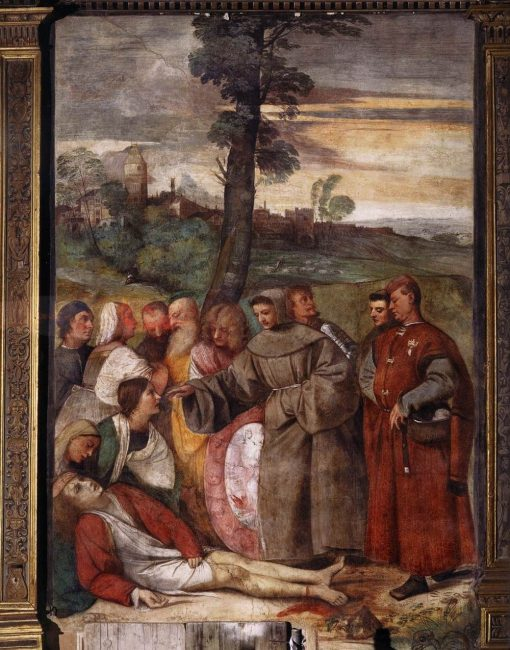 The Healing of the Wrathful Son   Titian   Oil Painting