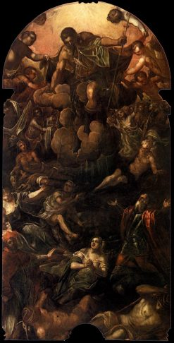 An Apparition of San Rocco (Saint Roch) | Tintoretto | Oil Painting
