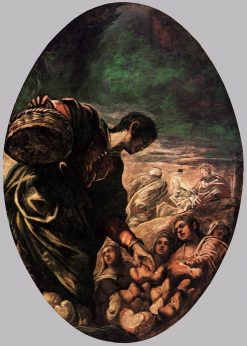 Elisha Multiplies the Bread | Tintoretto | Oil Painting