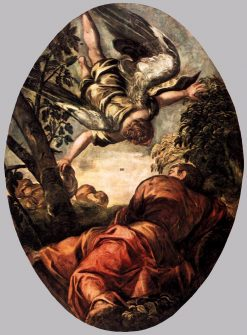 Elijah Fed by an Angel | Tintoretto | Oil Painting
