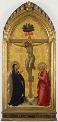 Christ on the Cross with the Virgin and Saint John | Lorenzo Monaco | Oil Painting