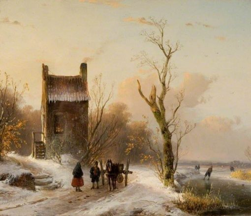 Winter Scene | Andreas Schelfhout | Oil Painting