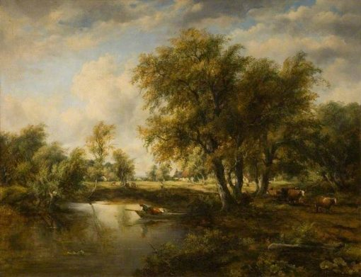 Landscape with a Stream | Frederick Waters Watts | Oil Painting