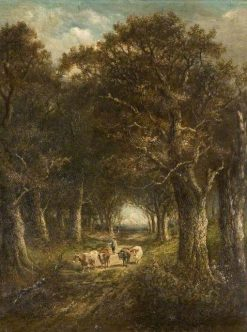 Cattle in the Woods | James Stark | Oil Painting