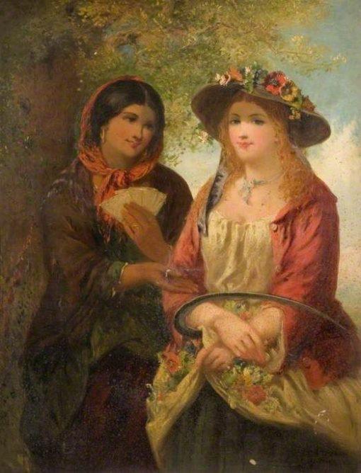 Gipsy and Girl | John Phillip | Oil Painting