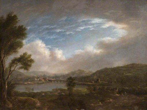 River Scene   John Warwick Smith   Oil Painting