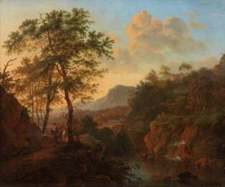 River Scene with Figures | Willem de Heusch | Oil Painting