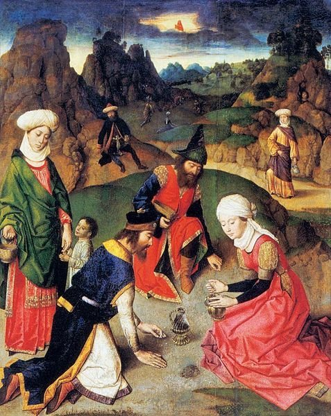 The Gathering of the Manna (upper right panel from the Altarpiece of the Holy Sacrament)   Dieric Bouts   Oil Painting
