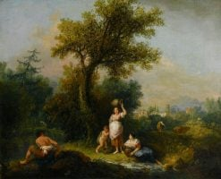 A Landscape | Francesco Zuccarelli | Oil Painting