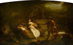 Scene from William Shakespeare's 'A Midsummer Night's Dream' Act II | Henry Howard | Oil Painting