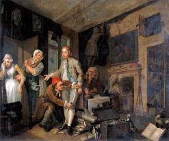 A Rake's Progress: 1. The Rake Taking Possession of His Estate | William Hogarth | Oil Painting