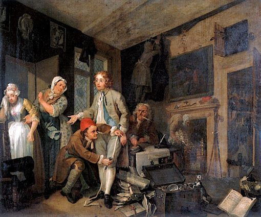 A Rake's Progress: 1. The Rake Taking Possession of His Estate | William Hogarth | Oil Painting