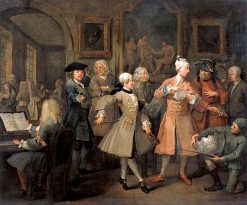 A Rake's Progress: 2. The Rake's Levee | William Hogarth | Oil Painting