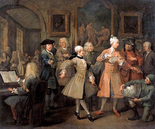A Rake's Progress: 2. The Rake's Levee   William Hogarth   Oil Painting