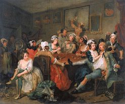 A Rake's Progress: 3. The Rake at the Rose Tavern | William Hogarth | Oil Painting