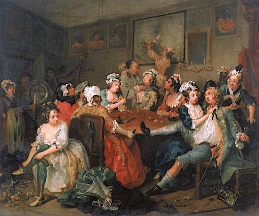 A Rake's Progress: 3. The Rake at the Rose Tavern | William Hogarth | Oil Painting
