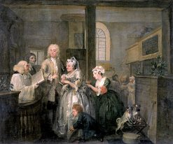 A Rake's Progress: 5. The Rake Marrying an Old Woman | William Hogarth | Oil Painting