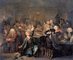 A Rake's Progress: 6. The Rake at the Gaming House | William Hogarth | Oil Painting
