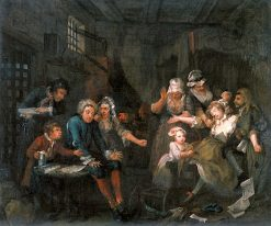 A Rake's Progress: 7. The Rake in Prison | William Hogarth | Oil Painting