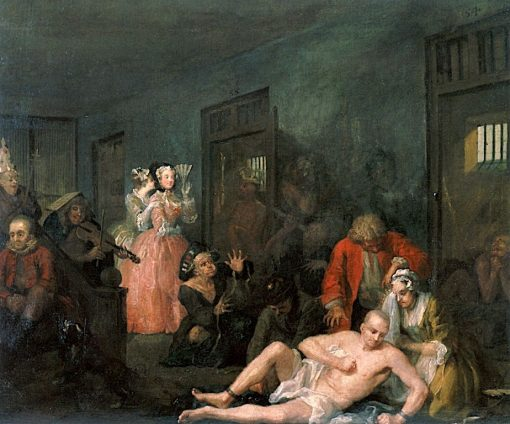 A Rake's Progress: 8. The Rake in Bedlam | William Hogarth | Oil Painting