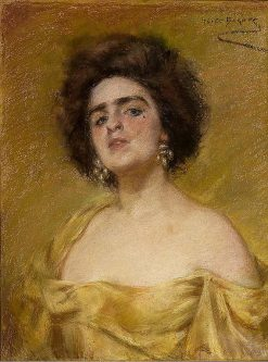Laura in Yellow | Alice Pike Barney | Oil Painting
