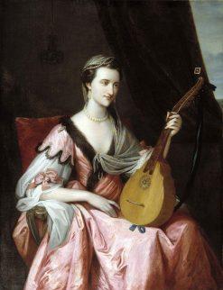Mary Hopkinson   Benjamin West   Oil Painting