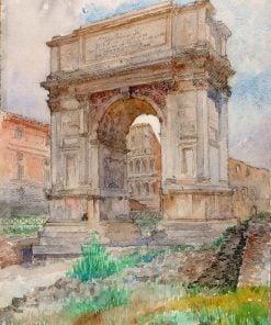 Arch of Titus | Cass Gilbert | Oil Painting