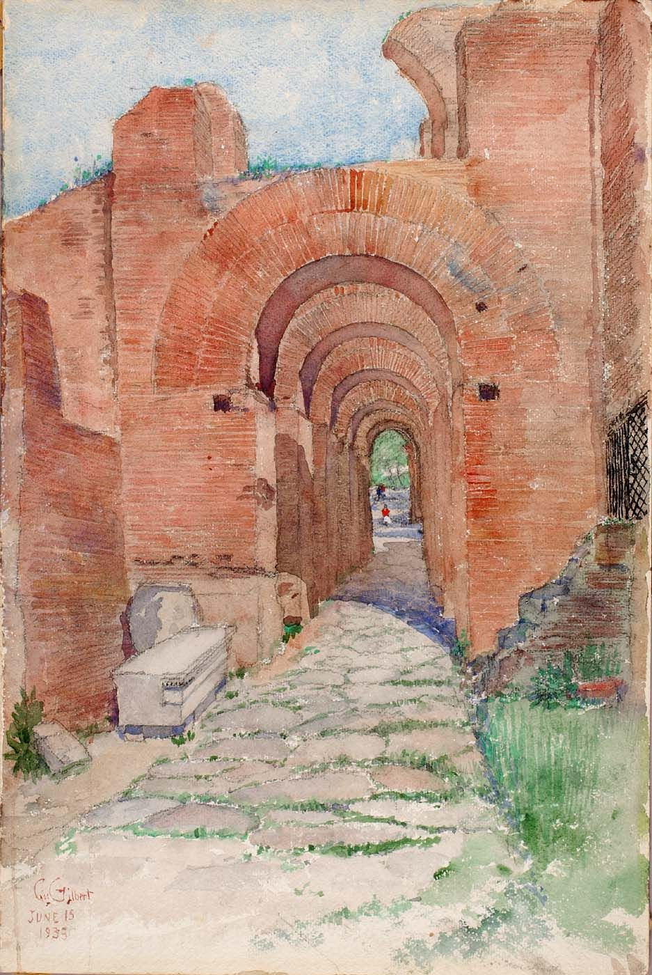 Arches of the Palace of Nero | Cass Gilbert | Oil Painting
