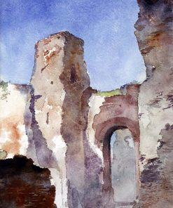 Baths of Caracalla | Cass Gilbert | Oil Painting