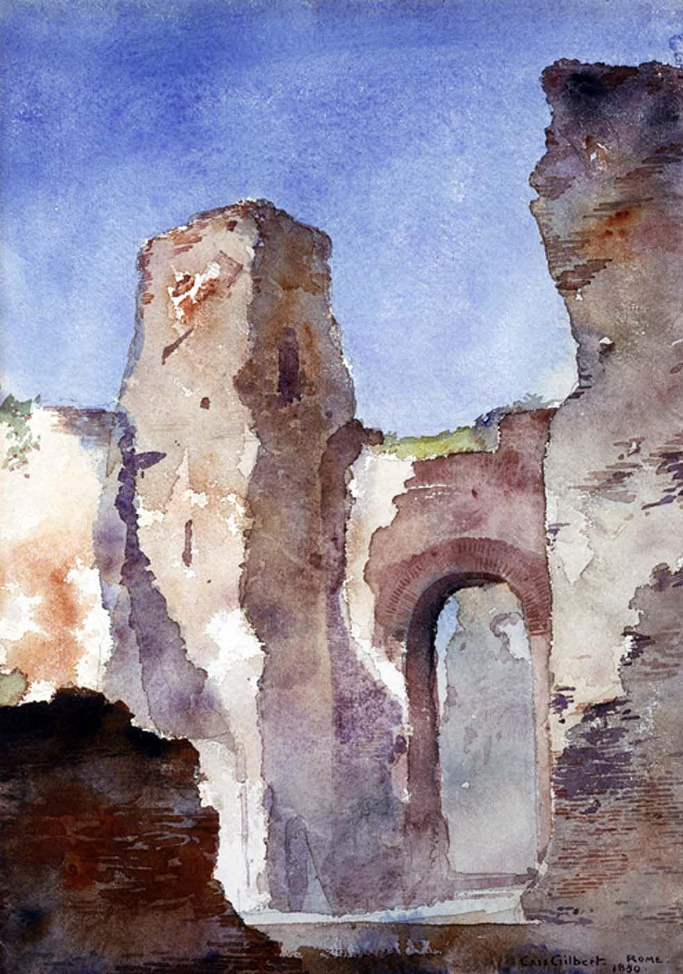 Baths of Caracalla | Cass Gilbert | Oil Painting