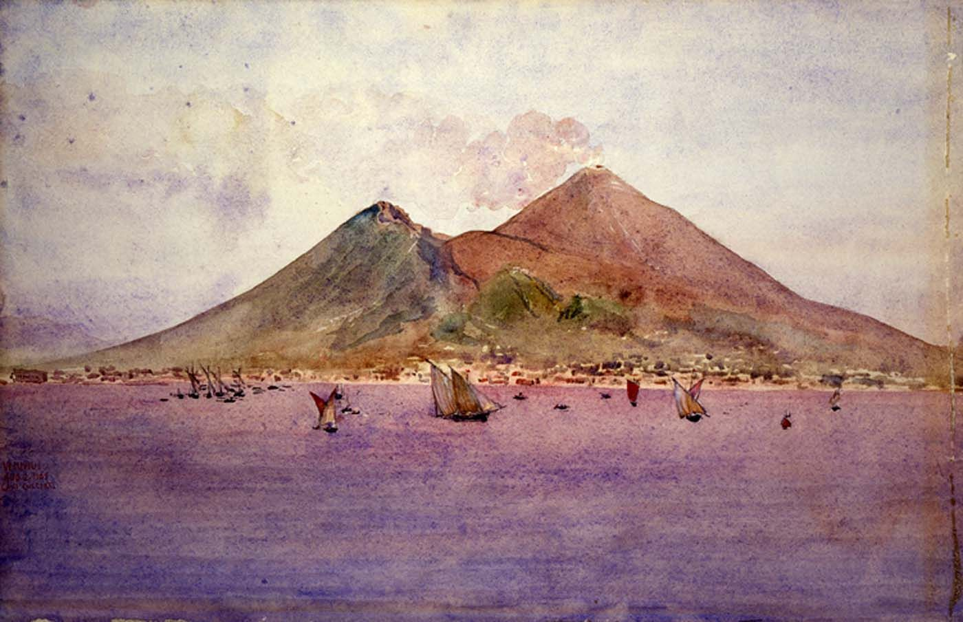 Mt. Vesuvius from the Bay of Naples | Cass Gilbert | Oil Painting