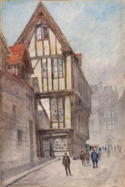 Old House in Rouen | Cass Gilbert | Oil Painting