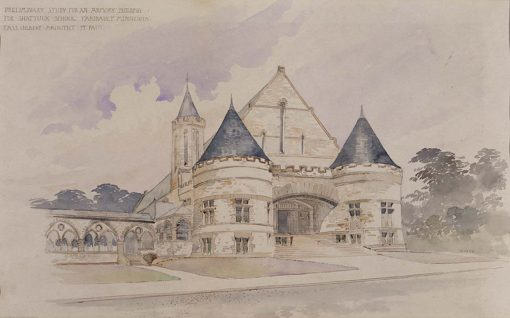 Preliminary study for an Armory Building for Shattuck School