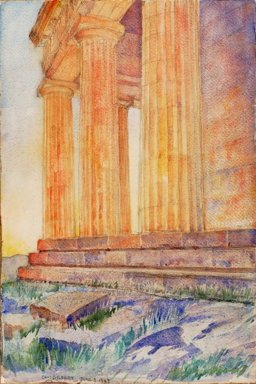 (Temple) | Cass Gilbert | Oil Painting