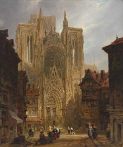 Rouen Cathedral | David Roberts | Oil Painting