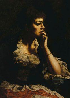 Portrait of Mrs. Eastman Johnson   Eastman Johnson   Oil Painting
