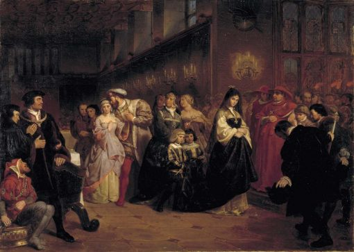 The Courtship of Anne Boleyn | Emanuel Gottlieb Leutze | Oil Painting