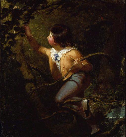 Bird Nesting | Emanuel Gottlieb Leutze | Oil Painting