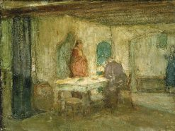 And He Disappeared out of Their Sight | Henry Ossawa Tanner | Oil Painting