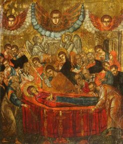 The Dormition of the Blessed Virgin Mary | Byzantine School Unknown | Oil Painting