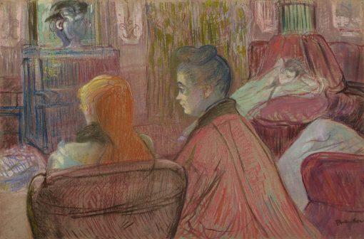 In the Salon | Henri de Toulouse Lautrec | Oil Painting